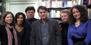 Writers from left to right: Juliet Cutler, Iclal Akcay, Antonije Nino Zalica, Bryan Monte, Kate Foley and Susan de Sola