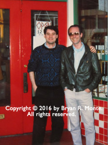 Bryan Monte and Steve Abbott. San Francisco, July 1987. Photographer unknown. Copyright 2016 by Bryan R. Monte. All rights reserved.